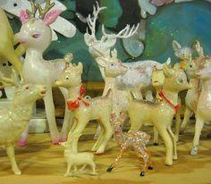 vintage deer - fond memories of these prancing across my Grandma's windowsill.