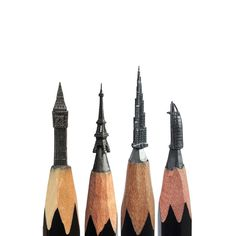 The best micro sculptures carved from pencil tip, by Salavat Fidai, via BoredPanda