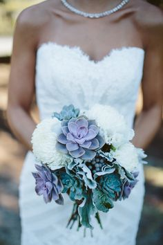 succulent + berry wedding bouquet | Paige Winn