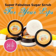Oh, Peaches! Sugar Lip Scrub   www.perfectlyposh.com/iheartposh907