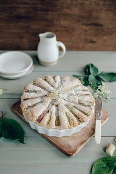 Rhubarb Cake | Jet & Indigo