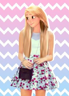 Hi I am Repunzel and Eugens daughter Annabelle. I don't have any powers but I'm still pretty cool. By @Emma G.