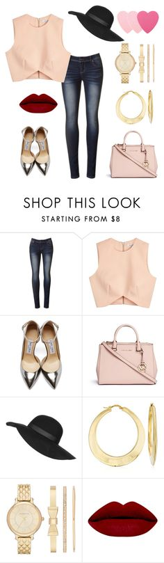 """""""lust"""" by pili-has ❤ liked on Polyvore featuring Finders Keepers, Jimmy Choo, Michael Kors, Topshop, Ross-Simons, Liz Claiborne, Sephora Collection, women's clothing, women's fashion and women"""