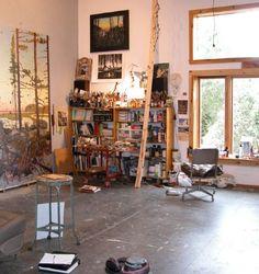 Tom Uttech's studio