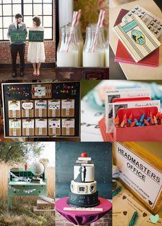 School Sweetheart Wedding Styling Ideas Mood Board from The Wedding Community