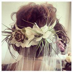 Stone Fox Bride succulent veil! Must have!
