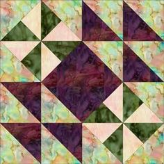 """Hither and Yon Quilt Block - Free Pattern 12"""" inch block"""