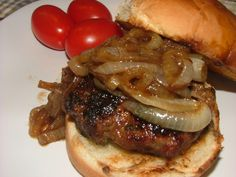 Caramelized Onion Burgers | A Recipe A Day