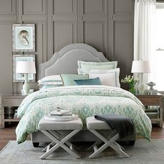Love this bedding from Williams Sonoma