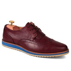 Fashion Engraving and PU Leather Design Men's Formal Shoes