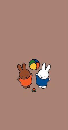 Iphone Background Wallpaper, Pastel Wallpaper, Iphone Wallpaper, Wallpaper Ideas, Japanese Poster, Miffy, Cute Cartoon Wallpapers, Cute Characters, Cute Art