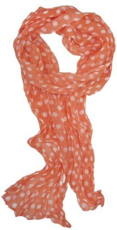 LibbySue-Whisper Weight Polka-Dot Print Scarf in Spring, Summer Colors of Light Coral Orange LibbySue,http://www.amazon.com/dp/B00C3EX8L4/ref=cm_sw_r_pi_dp_jybBrb1MXWCQRAX6