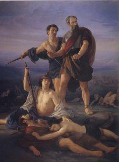 Death of King Saul, Elie Marcuse, 1848, Oil on Canvas, Tel Aviv Museum of Art, Israel