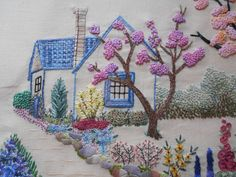 Cross stitch embroidery kitties and our life in our home surrounded by hayfields.