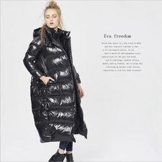 New arrival European station 2017 women plus size Duck down parkas fake two piece cocoon style longer warm coat Winter Jackets Women, Coats For Women, Clothes For Women, Down Parka, Down Coat, Warm Coat, Winter Coat, Duck Down Jacket, White Ducks