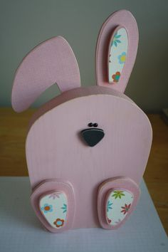 Wooden Easter Bunny by crochetinggirl on Etsy, $12.00