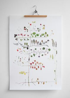 "Signed illustration by designer Lotta Olsson. ""Multi Tree is a like a diary in time from a summer back in 2009. Makes me think of my mothers garden, my"