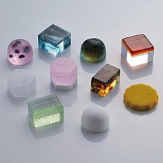 Japanese sweets - I love the jewel-like appearance and bright colors