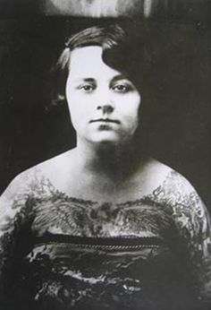 vintage everyday: 39 Gorgeous Vintage Photos of Tattooed Ladies in the Late 19th and Early 20th Centuries    May Vandermark