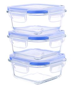 Look what I found on #zulily! 17-Oz. Glass Food Container - Set of Three #zulilyfinds