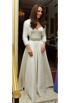 Love Kate's reception dress and shrug