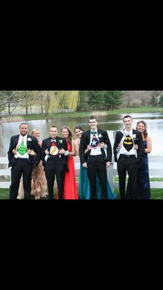Best prom idea ever!! Super Heroes!