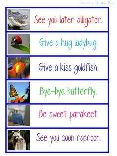 Cute good-bye sayings for end of day