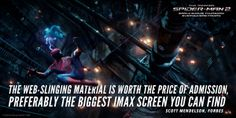 Web-slinging in IMAX 3D? Amazing. Get your IMAX tickets now for tomorrow's early showing of The Amazing Spider-Man 2. http://www.fandango.com/theamazingspiderman2_156279/movietimes