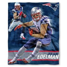 New England Patriots Julian Edelman NFL Players HD Silk Touch Throw. 50 x 60. Visit SportsFansPlus.com for Details.