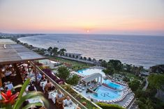 Amathus Beach Hotel Rhodes || This 5-star hotel nestles on a green hillside, just 50 metres from Ixia Beach. It offers a spa with indoor pool and outdoor pools, and features 3 restaurants and 4 bars.