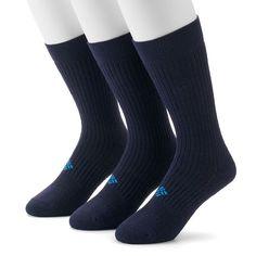 Men's Columbia Sportswear 3-pack Cushioned Casual Crew Socks, Size: 10-13, Blue