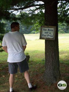 Tee area, not a pee area.