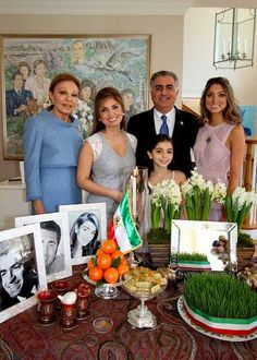 New pictures of the Imperial family of Iran . Above, the Prince Reza, Princess Yasmine and two of their daughters Princesses Noor and Farah .