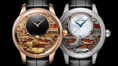 Jaquet Droz, Chinese New Year, J005023286, J005024283, Petite Heure Minute Relief Dog, Engraving, Duo Front