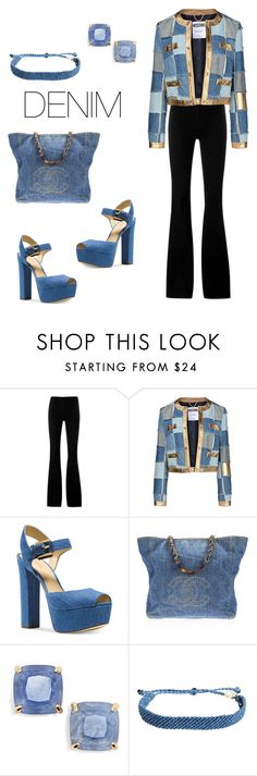 """Shades of Denim."" by juliexxx99 ❤ liked on Polyvore featuring STELLA McCARTNEY, Moschino, Michael Kors, Chanel, Kate Spade, Pura Vida, women's clothing, women, female and woman"