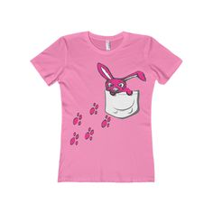 💥💥New product alert! Cute Pink Bunny F... #clothing #apparel #iphone #tshirts #sweatshirts #tanktops  http://roccityteesandapparel.myshopify.com/products/cute-pink-bunny-faux-pocket-womens-boyfriend-tee?utm_campaign=social_autopilot&utm_source=pin&utm_medium=pin