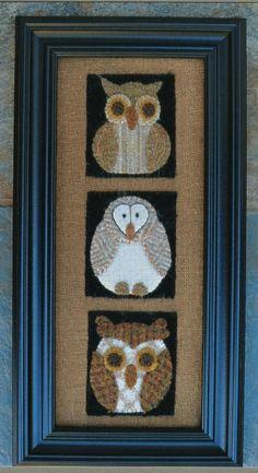 Wool Applique Owls