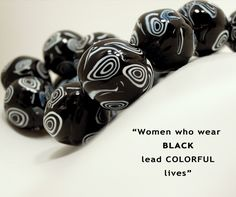 It is the #Reason no.3 White and Black Murano Glass Necklace