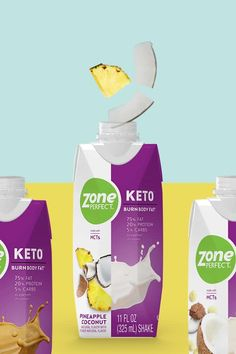 Shop new Keto shakes from ZonePerfect. When used to complement a ketogenic diet designed to burn fat and boost fat metabolism, these shakes support ke. Ketogenic Recipes, Ketogenic Diet, Keto Recipes, Meal Replacement Drinks, Keto Shakes, Food Graphic Design, Belly Fat Diet, Ads Creative, Coconut Head