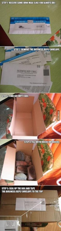The best thing to do with your junk mail... So much trolling win :)