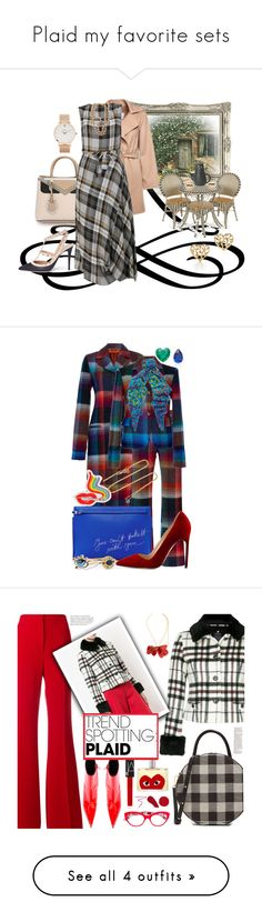 """""""Plaid my favorite sets"""" by deborah-518 ❤ liked on Polyvore featuring MacKenzie-Childs, Fendi, MaxMara, Vivienne Westwood, Chanel, Paloma Picasso, Valentino, CLUSE, Missoni and Anabela Chan"""