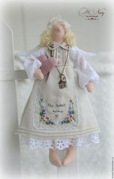 Купить Домашний ангел СЕЛЕСТА - бежевый, тильда, кукла Тильда, ангел, ангел тильда