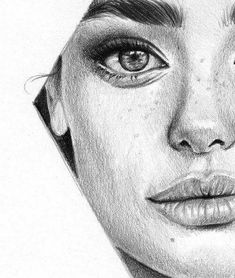Realistic Drawings girl, love and beautiful image on We Heart It - Unique Drawings, Amazing Drawings, Pencil Art Drawings, Realistic Drawings, Love Drawings, Beautiful Drawings, Pencil Sketch Drawing, Girl Drawing Sketches, Portrait Sketches