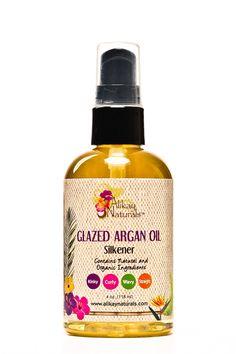 Alikay Naturals Glazed Argan Oil Silkener 4 Ounce
