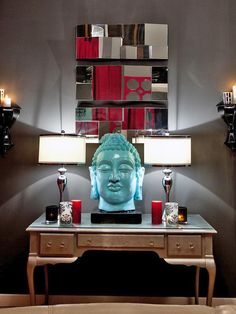 OMG We need a giant head like this!!!  Jessie Miller's Design Portfolio : HGTV Star : Home & Garden Television
