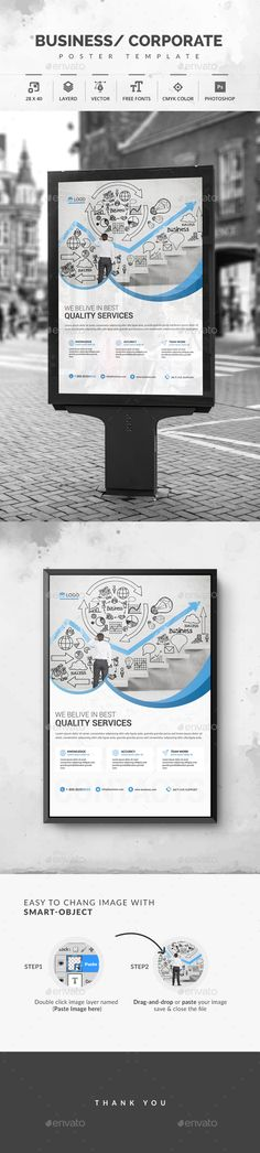 Corporate Poster — Photoshop PSD #ads #flyer • Available here → https://graphicriver.net/item/corporate-poster/19601177?ref=pxcr