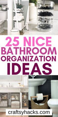 25 Bathroom Organization Hacks You Need to Know Try these bathroom product organization hacks and organize bathroom in a simple manner. Try some of these DIY organizers and use them to keep your home clean and neat. Organisation Hacks, Storage Hacks, Diy Storage, Storage Ideas, Toilet Storage, Closet Storage, Food Storage, Small Bathroom Organization, Bathroom Hacks