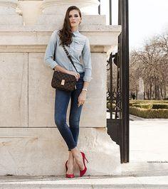 Louis Vuitton Pochette Metis and Denim on Denim