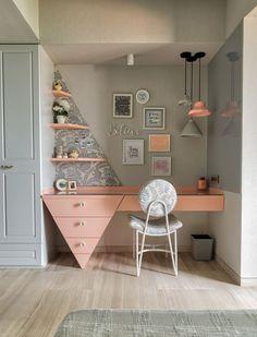 Study Table Designs, Study Room Design, Study Room Decor, Room Design Bedroom, Home Room Design, Home Decor Bedroom, Home Interior Design, Room Interior, House Design