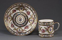 Cup and Saucer Sèvres Manufactory Date: 1780